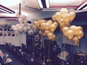 Silver and Gold Balloon Pop 2015